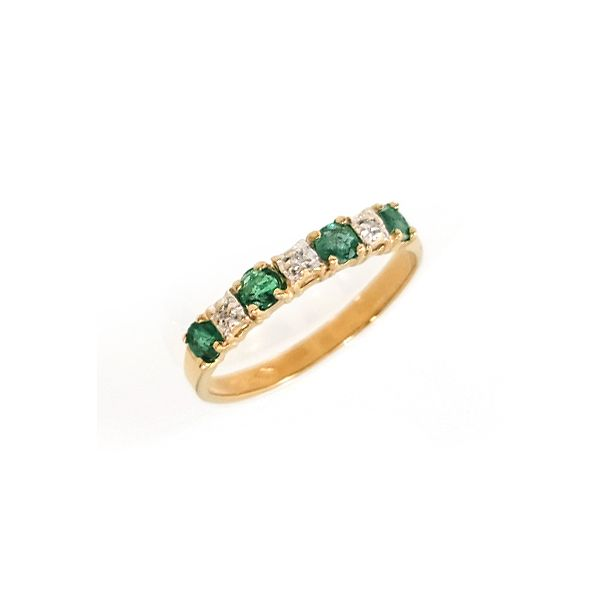 Emerald & Diamond Band Coughlin Jewelers St. Clair, MI