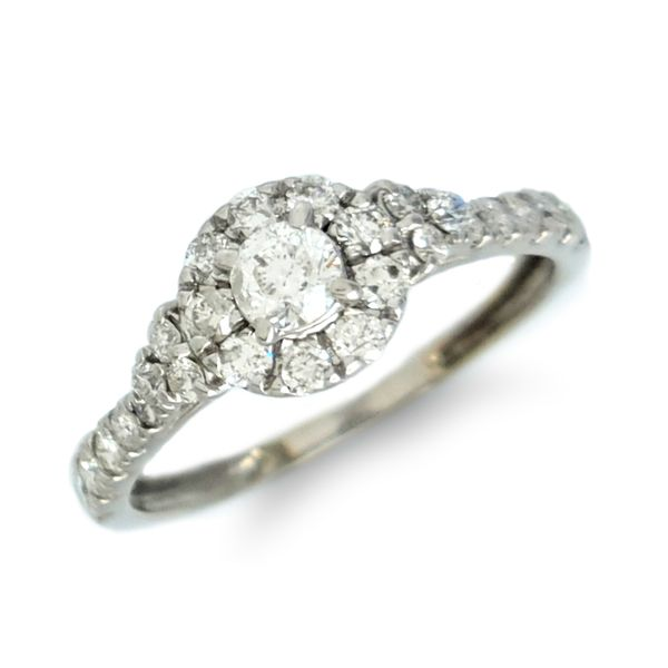 Diamond Halo Promise/Engagement Ring Coughlin Jewelers St. Clair, MI