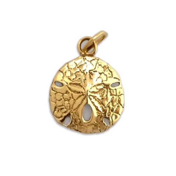 Sand Dollar Gold Charm Coughlin Jewelers St. Clair, MI