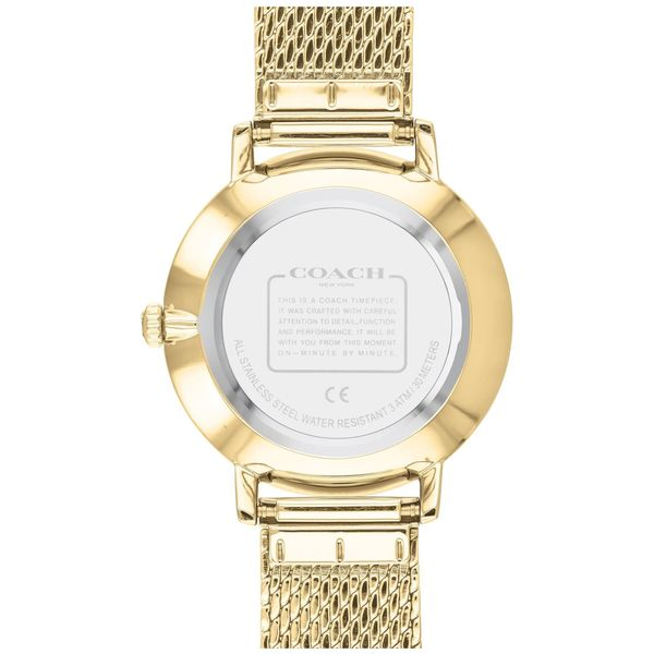 Coach Audrey Mother Of Pearl Dial Gold-Tone Swarovski Accent Mesh Bracelet Watch Image 3 Coughlin Jewelers St. Clair, MI