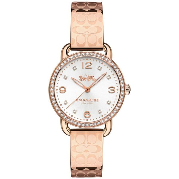 Coach Delancey Rose Gold-Tone Bangle Bracelet Watch Coughlin Jewelers St. Clair, MI