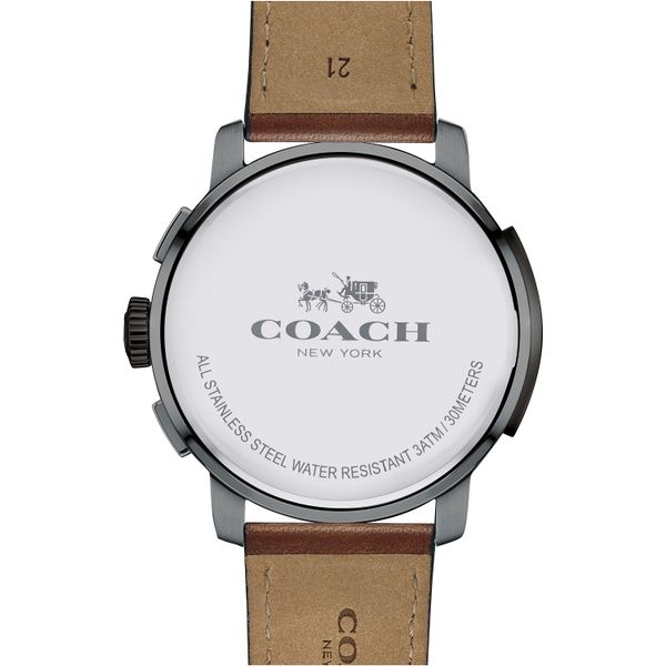 Coach Men's Bleeker Russet Leather Strap Watch Image 3 Coughlin Jewelers St. Clair, MI