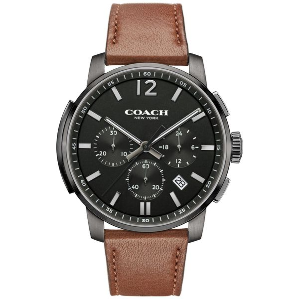 Coach Men's Bleeker Russet Leather Strap Watch Coughlin Jewelers St. Clair, MI