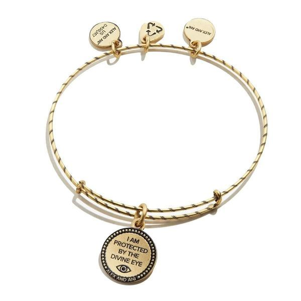 Alex and Ani Evil Eye Double Sided Embossed Charm Bangle Bracelet Image 2 Coughlin Jewelers St. Clair, MI