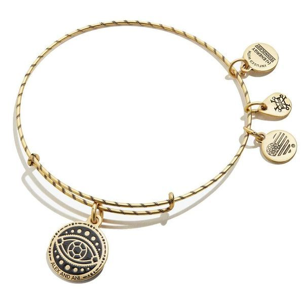 Alex and Ani Evil Eye Double Sided Embossed Charm Bangle Bracelet Coughlin Jewelers St. Clair, MI