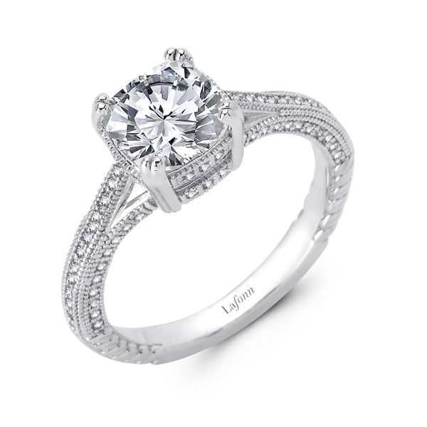 Cushion Engagement Ring Coughlin Jewelers St. Clair, MI