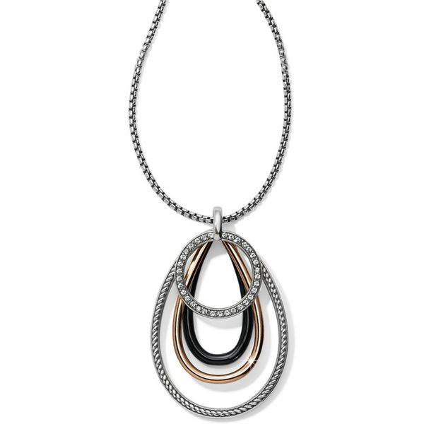 Brighton Neptune's Rings Black Convertible Pendant Necklace Coughlin Jewelers St. Clair, MI