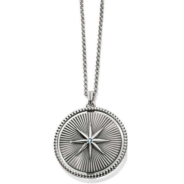 Brighton Halo Rays Round Pendant Necklace Image 2 Coughlin Jewelers St. Clair, MI