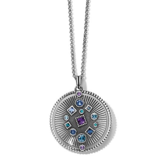 Brighton Halo Rays Round Pendant Necklace Coughlin Jewelers St. Clair, MI