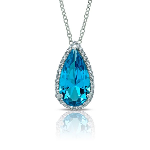 Magical Pear-Shaped Halo Necklace Coughlin Jewelers St. Clair, MI