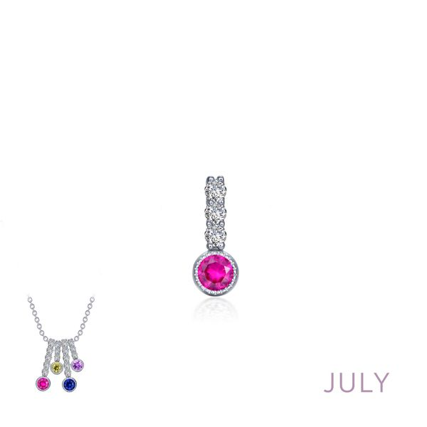 July Birthstone Love Pendant Coughlin Jewelers St. Clair, MI