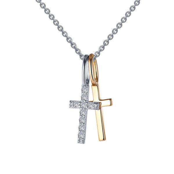 Cross Shadow Charm Pendant Necklace Coughlin Jewelers St. Clair, MI