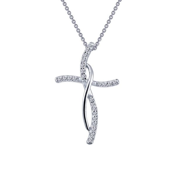 0.24 ctw Cross Pendant Necklace Coughlin Jewelers St. Clair, MI