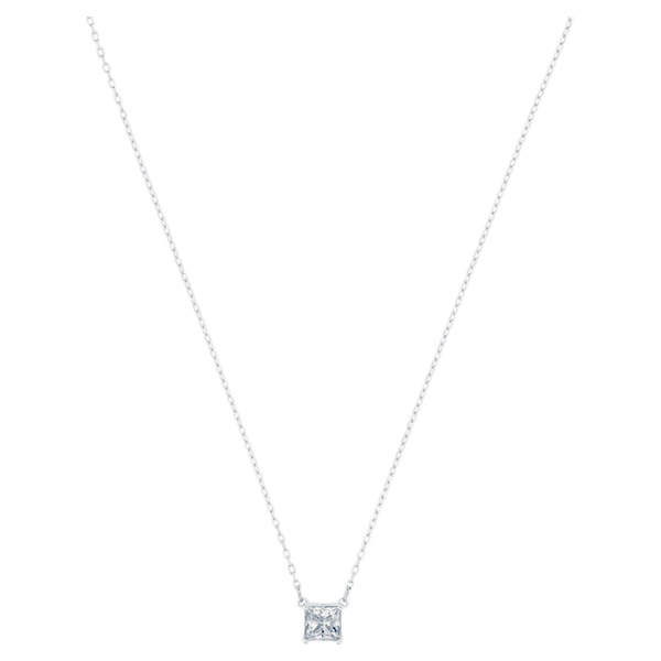 Attract Necklace, White, Rhodium plated Coughlin Jewelers St. Clair, MI