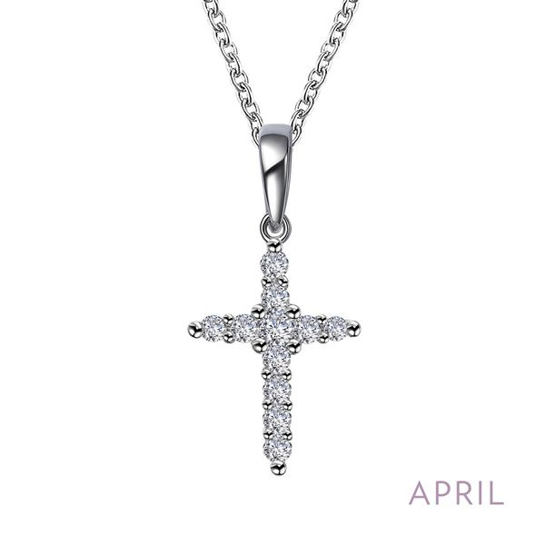 April Birthstone Cross Necklace Coughlin Jewelers St. Clair, MI