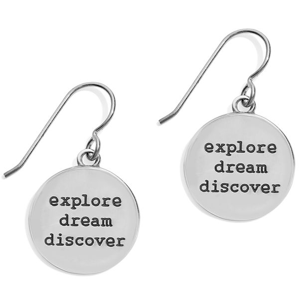 Brighton Coastline Compass French Wire Earrings Image 2 Coughlin Jewelers St. Clair, MI