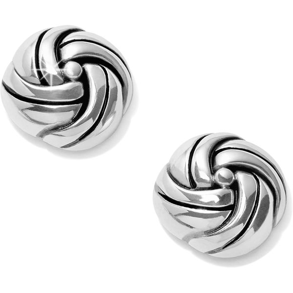 Brighton Interlok Knot Post Earrings Coughlin Jewelers St. Clair, MI