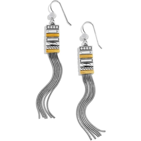 Brighton Tapestry Slim Fringe French Wire Earrings Image 2 Coughlin Jewelers St. Clair, MI