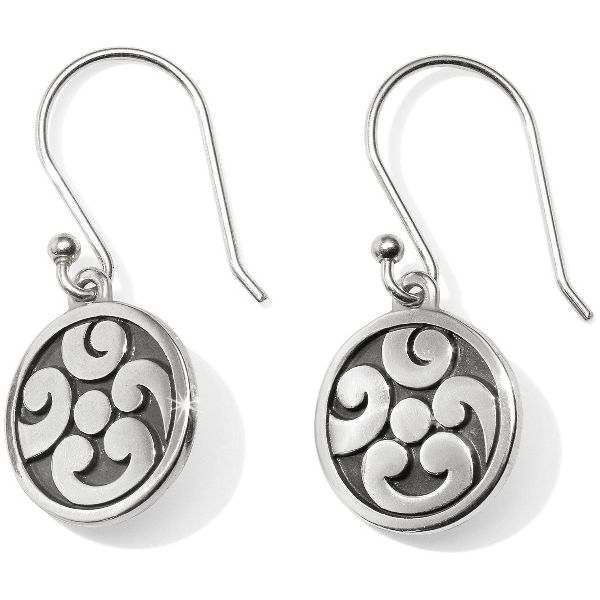 Brighton Contempo Ice Reversible Round French Wire Earrings Image 2 Coughlin Jewelers St. Clair, MI