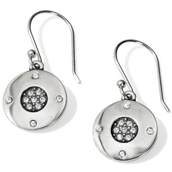Brighton Contempo Ice Reversible Round French Wire Earrings Coughlin Jewelers St. Clair, MI