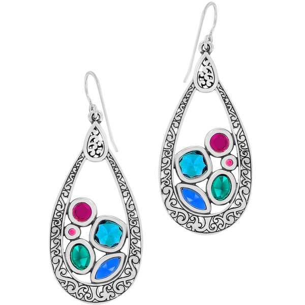 Brighton Elora Gems Vitrail Hoop French Wire Earrings Image 2 Coughlin Jewelers St. Clair, MI