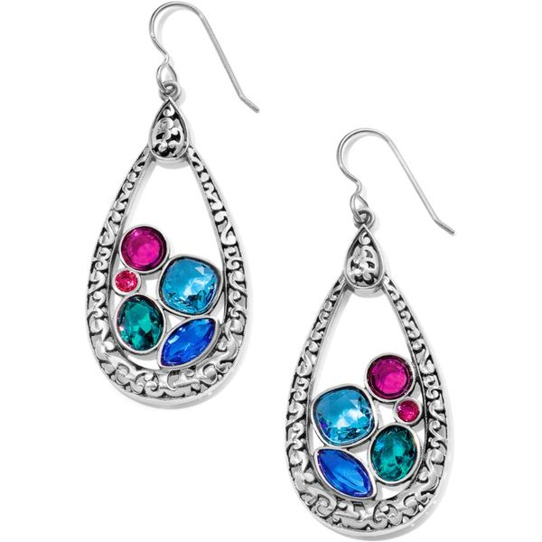 Brighton Elora Gems Vitrail Hoop French Wire Earrings Coughlin Jewelers St. Clair, MI