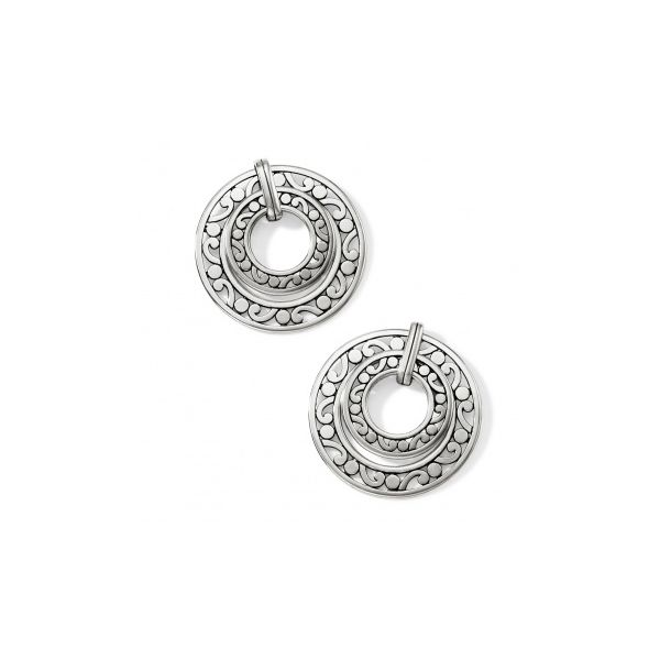 Contempo Open Ring Duo Post Drop Earrings Coughlin Jewelers St. Clair, MI