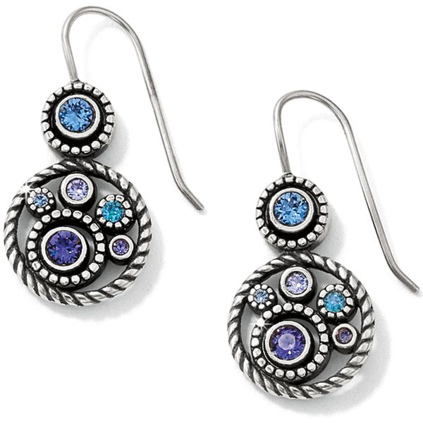 Halo French Wire Earrings Coughlin Jewelers St. Clair, MI