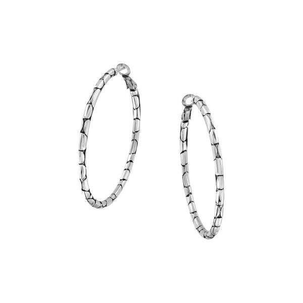 Pebble Large Hoop Earrings Coughlin Jewelers St. Clair, MI