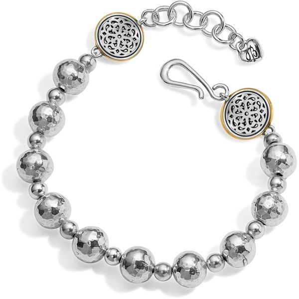 Brighton Ferrara Hammered Bead Bracelet Image 2 Coughlin Jewelers St. Clair, MI