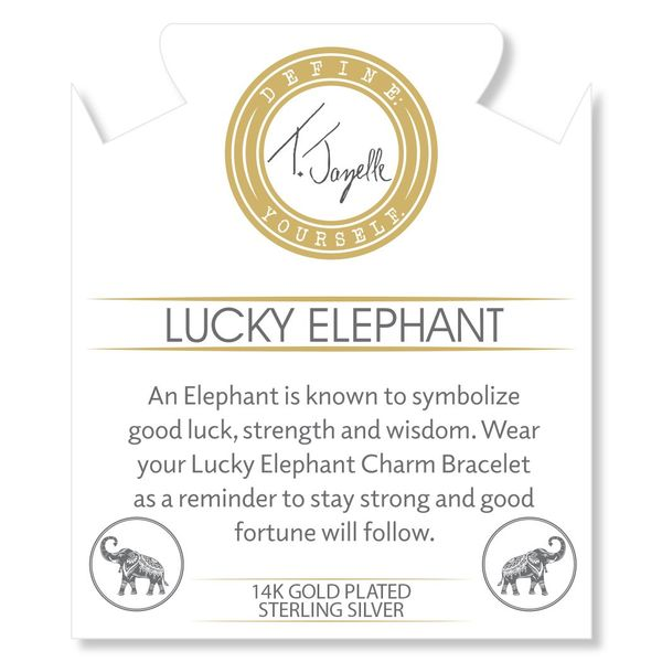 Gold Collection - Silver Steel Bracelet with Lucky Elephant Gold Charm Image 2 Coughlin Jewelers St. Clair, MI