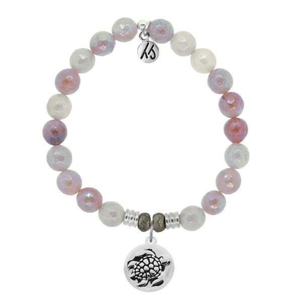 Sunstone Stone Bracelet with Turtle Sterling Silver Charm Coughlin Jewelers St. Clair, MI