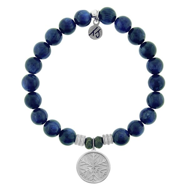 Kyanite Stone Bracelet with Snowflake Sterling Silver Charm Coughlin Jewelers St. Clair, MI