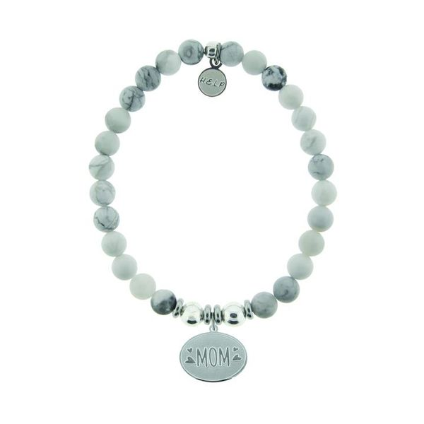 HELP Collection: Mom Charm with Howlite Beads Charity Bracelet Coughlin Jewelers St. Clair, MI