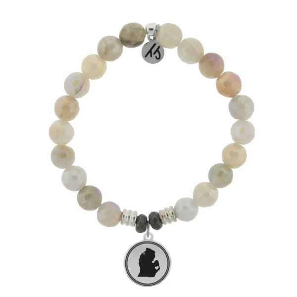 Coughlin Jewelers Exclusive - My Heart is in Michigan Bracelet (Moonstone) Coughlin Jewelers St. Clair, MI