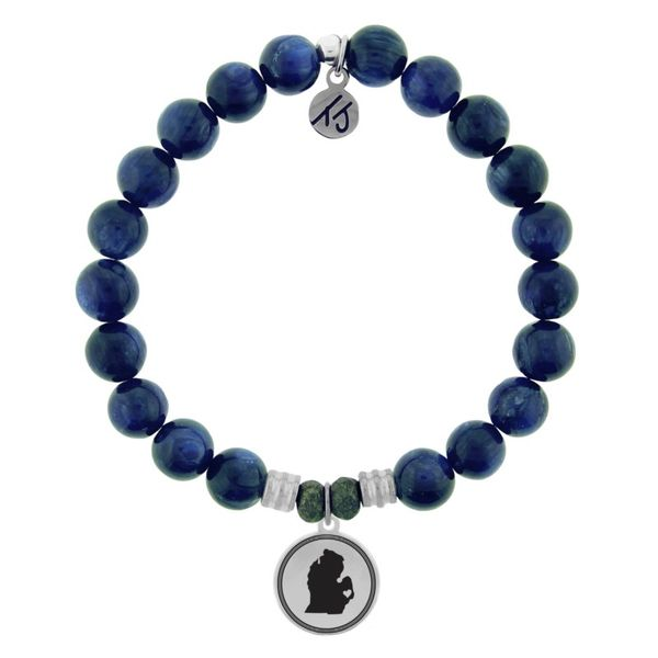Coughlin Jewelers Exclusive - My Heart is in Michigan Bracelet (Kyanite) XL Coughlin Jewelers St. Clair, MI