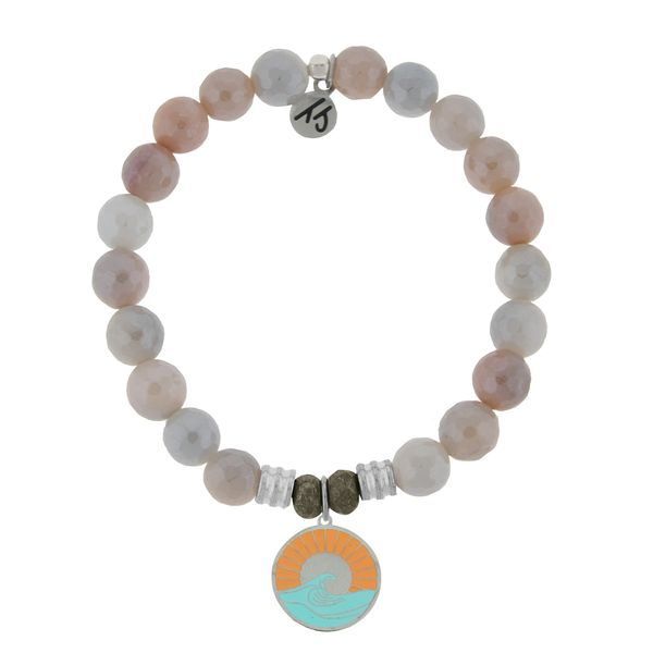 Sunstone Stone Bracelet with Paradise Sterling Silver Charm Coughlin Jewelers St. Clair, MI