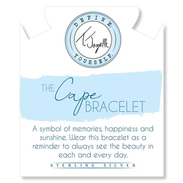 The Cape Bracelet - Silver Steel with Blue Opal Ball (Kid's Size) Image 2 Coughlin Jewelers St. Clair, MI