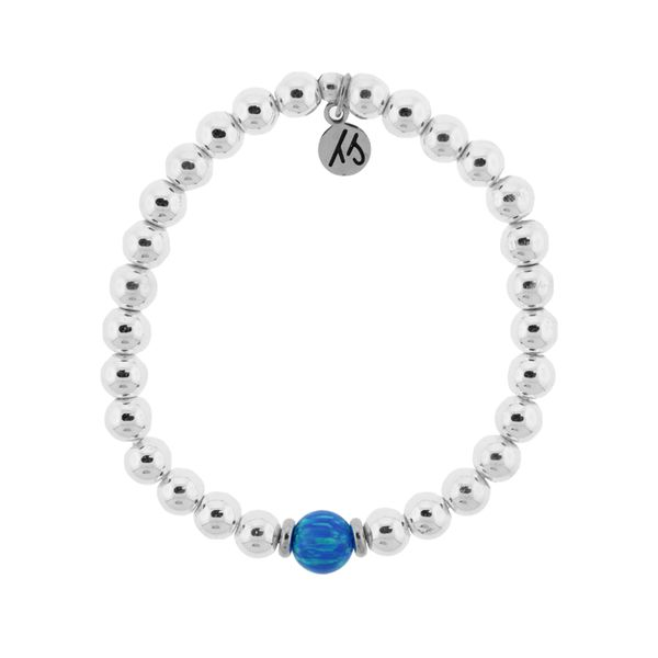 The Cape Bracelet - Silver Steel with Blue Opal Ball (Kid's Size) Coughlin Jewelers St. Clair, MI