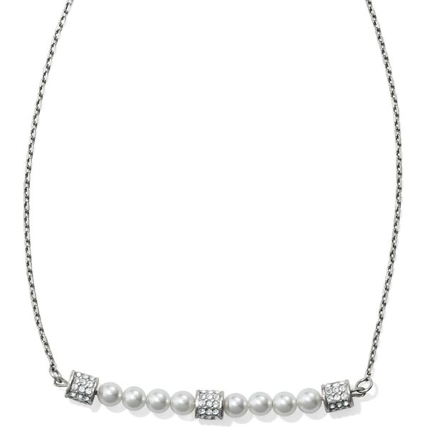 Brighton Meridian Petite Pearl Bar Necklace Coughlin Jewelers St. Clair, MI