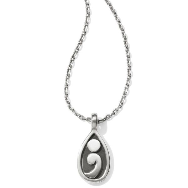 Brighton Contempo Ice Reversible Petite Teardrop Necklace Image 2 Coughlin Jewelers St. Clair, MI
