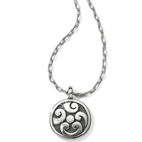 Brighton Contempo Ice Reversible Petite Round Necklace Silver Image 2 Coughlin Jewelers St. Clair, MI