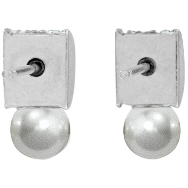 Brighton Meridian Petite Pearl Post Earrings Image 2 Coughlin Jewelers St. Clair, MI