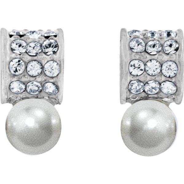 Brighton Meridian Petite Pearl Post Earrings Coughlin Jewelers St. Clair, MI