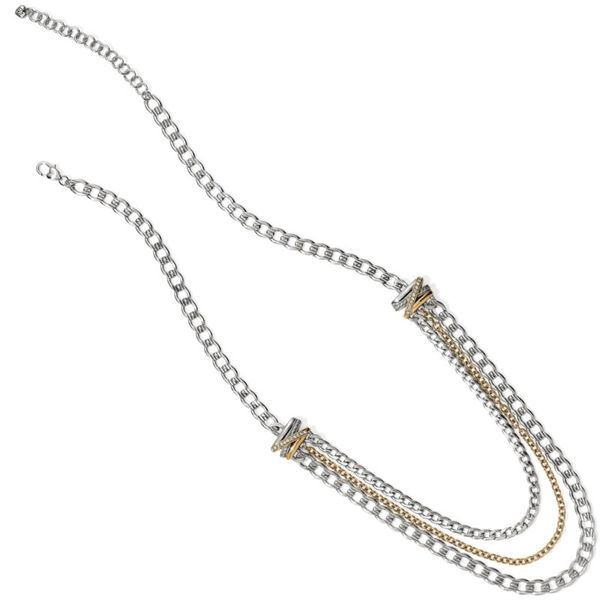 Brighton Neptune's Rings Multiple Row Chain Necklace Image 2 Coughlin Jewelers St. Clair, MI