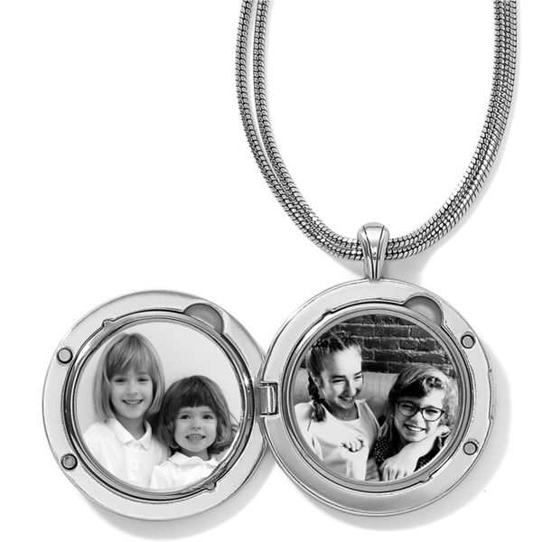 Brighton Toledo Alto Noir Convertible Locket Necklace Image 2 Coughlin Jewelers St. Clair, MI