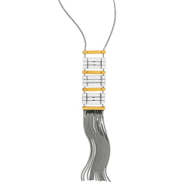 Brighton Tapestry Fringe Long Necklace Image 2 Coughlin Jewelers St. Clair, MI
