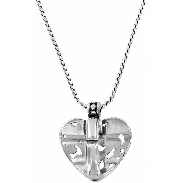 Brighton Contempo Heart Badge Clip Necklace Image 2 Coughlin Jewelers St. Clair, MI