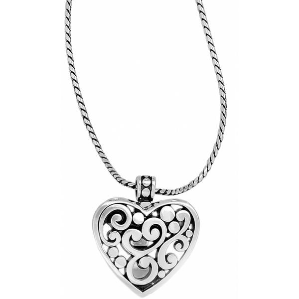 Brighton Contempo Heart Badge Clip Necklace Coughlin Jewelers St. Clair, MI