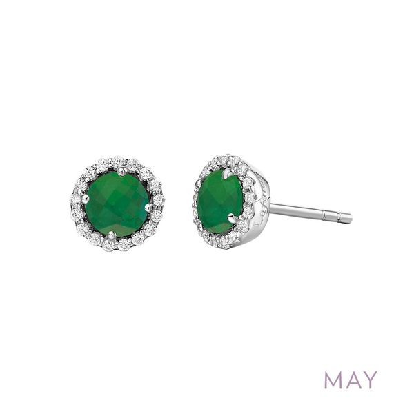 May Birthstone Earrings Coughlin Jewelers St. Clair, MI